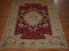 Load image into Gallery viewer, 5' X 8' Abusson Regal Rose Medallion Traditional Hand-knotted Cream,Pink Rectangle Wool Rug - Direct Rug Import | Rugs in Chicago, Indiana,South Bend,Granger
