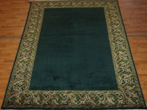 5'6'' X 8'2'' Abusson Frame Traditional Hand-knotted Gold Rectangle Wool Rug - Direct Rug Import | Rugs in Chicago, Indiana,South Bend,Granger