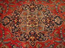 Load image into Gallery viewer, 10'9'' X 13'6'' Persian Kashan Medallion Semi-Antique Red Rectangle Wool Rug - Direct Rug Import | Rugs in Chicago, Indiana,South Bend,Granger
