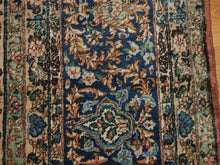 Load image into Gallery viewer, 9'8'' X 13'4'' Persian Kerman Medallion Traditional Hand-knotted Tan,Peach Rectangle Wool Rug