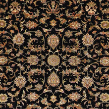 "Load image into Gallery viewer, 5'5""x7'6"" Traditional Black Wool & Silk Hand-Knotted Rug - Direct Rug Import 