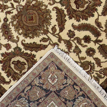"Load image into Gallery viewer, 6'x9'3"" Traditional Ivory Kashan Wool Hand-Knotted Rug"
