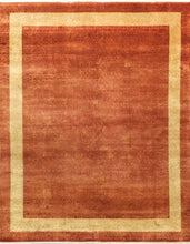 Load image into Gallery viewer, 8' X 10' Traditional Tone-On-Tone Gilded Scroll Rust Wool Hand-Knotted Rug