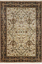 "Load image into Gallery viewer, 9'1""x12'1"" Classic & Traditional Heriz Wool & Silk Hand-Knotted Rug - Direct Rug Import 