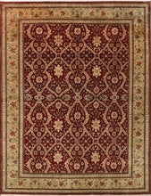 "Load image into Gallery viewer, 7""7""x9' Traditional Green Wool Hand Knotted Rug - Direct Rug Import 
