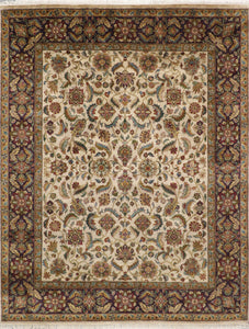 "7'11""x10' Traditional Wool Hand-Knotted Rug"