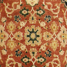 "Load image into Gallery viewer, 4'x6'2"" Decorative Red Wool Hand-Knotted Rug"