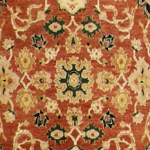 "4'x6'2"" Decorative Red Wool Hand-Knotted Rug"
