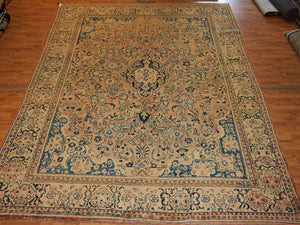 9'4'' X 12' Persian Khorusoh Medallion Semi-Antique Pink Rectangle Wool Rug - Direct Rug Import | Rugs in Chicago, Indiana,South Bend,Granger