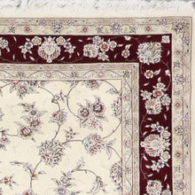 Load image into Gallery viewer, 6'x9' Traditional Tabriz Wool & Silk Hand-Knotted Rug