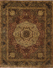 Load image into Gallery viewer, 8'x10' Traditional Kerman Brown Wool Hand-Knotted Rug - Direct Rug Import | Rugs in Chicago, Indiana,South Bend,Granger
