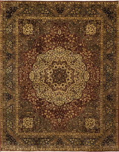 8'x10' Traditional Kerman Brown Wool Hand-Knotted Rug - Direct Rug Import | Rugs in Chicago, Indiana,South Bend,Granger