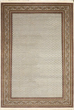 "Load image into Gallery viewer, 6'x8'10"" Decorative Ivory Sarban Wool Hand-Knotted Rug"