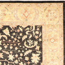 "Load image into Gallery viewer, 8'x10'8"" Traditional Black Wool Hand-Knotted Rug"