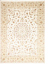 "Load image into Gallery viewer, 6'11""x9'9"" Contemporary Ivory Wool Hand-Knotted Rug"