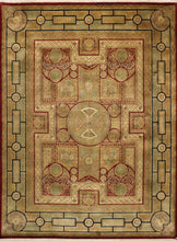 "Load image into Gallery viewer, 8'11""x12'1"" Polynesian Decorative Wool Hand-Knotted Rug"