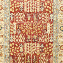 "Load image into Gallery viewer, 5'9""x7'6"" Decorative Ivory Kazak Tribal Wool Hand-Knotted Rug"