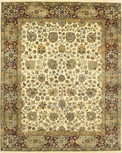 "8'x10'1"" Decorative Kashan Wool Hand-Knotted Rug - Direct Rug Import 