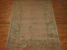 Load image into Gallery viewer, 5' X 7'11'' Abusson Curvilinear Traditional Hand-knotted Silver Sage,Tan Rectangle Wool Rug - Direct Rug Import | Rugs in Chicago, Indiana,South Bend,Granger