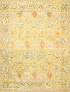 "8'9""x11'9"" Traditional Wool Hand-Knotted Rug - Direct Rug Import 