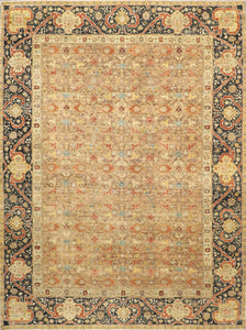 "8'10""x11'10"" Traditional Wool Hand-Knotted Rug - Direct Rug Import 
