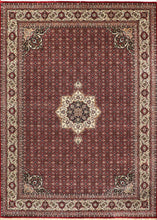 "Load image into Gallery viewer, 8'1""x11'3"" Traditional Red Wool Hand-Knotted Rug - Direct Rug Import 