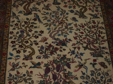 Load image into Gallery viewer, 4'3'' X 6'6'' Isfashan Tree of Life Floral Traditional Hand-knotted Brown Rectangle Wool & Silk Rug - Direct Rug Import | Rugs in Chicago, Indiana,South Bend,Granger