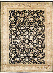 "8'5""x11'5"" Traditional Tabriz Wool & Silk Hand-Knotted Rug"