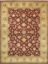 "Load image into Gallery viewer, 9'x11'11""  Decorative Overall Wool Hand-Knotted Rug"