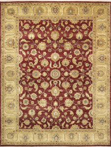 "9'x11'11""  Decorative Overall Wool Hand-Knotted Rug"