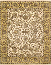 "Load image into Gallery viewer, 8'x10'1"" Traditional Kashan Ivory Wool Hand-Knotted Rug"
