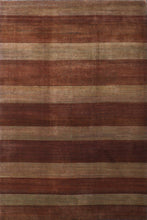 Load image into Gallery viewer, 6'x9' Contemporary Brown Wool Hand-Knotted Rug