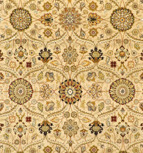 "Load image into Gallery viewer, 7'9""x10'2"" Traditional Tan Wool & Silk Hand-Knotted Rug"