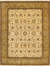 "Load image into Gallery viewer, 7'9""x10'2"" Traditional Tan Wool & Silk Hand-Knotted Rug - Direct Rug Import 