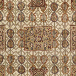 "8'3""x10'7"" Decorative Tan Polynesian Wool Hand-Knotted Rug"