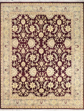 "Load image into Gallery viewer, 7'10""x10' Traditional Burgundy Wool Hand-Knotted Rug"