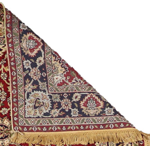 "4'3""x6'3"" Traditional Red Wool Hand-Knotted Rug"