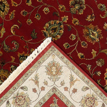 "Load image into Gallery viewer, 5'11""x9' Traditional Tabriz Red Fine Quality of Wool & Silk Hand-Knotted Rug"