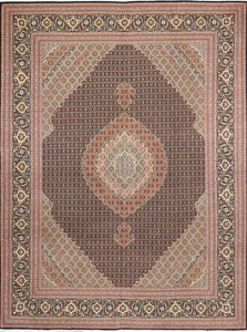 "8'4""x11'2"" Traditional Mahi Tabriz Wool Hand-Knotted Rug - Direct Rug Import 