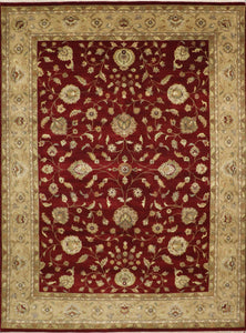 "8'11""x12'1"" Traditional Kashan Wool Hand-Knotted Rug - Direct Rug Import 