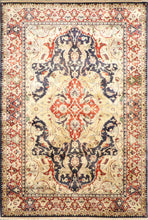 "Load image into Gallery viewer, 61""x9'2"" Decorative Blue Tabriz Wool Hand-Knotted Rug"