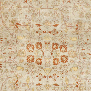"8'x10'2"" Decorative Rust Wool Hand-Knotted Rug"