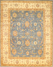 "Load image into Gallery viewer, 8'2""x10'4"" Decorative Blue Wool Hand-Knotted Rug"