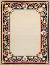 "Load image into Gallery viewer, 9'x11'11"" Decorative Gold Aubusson Nepal Wool Hand-Knotted Rug"