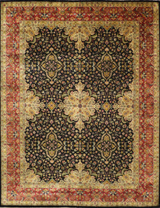 "9'x11'10"" Traditional Wool Hand-Knotted Rug"