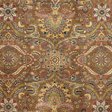 "Load image into Gallery viewer, 6'1""x8'9"" Decorative Brown Wool Hand-Knotted Rug"