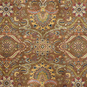 "6'1""x8'9"" Decorative Brown Wool Hand-Knotted Rug"