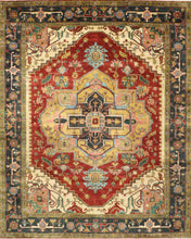 "Load image into Gallery viewer, 9'6""X11'10"" Traditional Wool Hand-Knotted Rug"