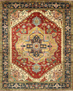 "9'6""X11'10"" Traditional Wool Hand-Knotted Rug"