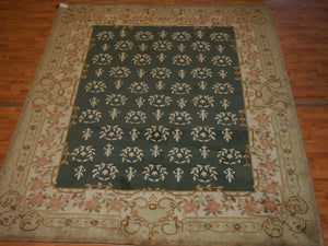8'1'' X 10' Abusson Tone-on-Tone Traditional Hand-Knotted Ivory,Tan Rectangle Wool Rug - Direct Rug Import | Rugs in Chicago, Indiana,South Bend,Granger